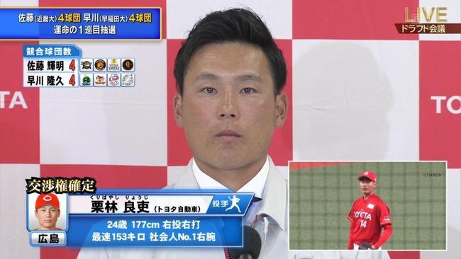 【画像】広島に指名された栗林の顔wwwwwwwww