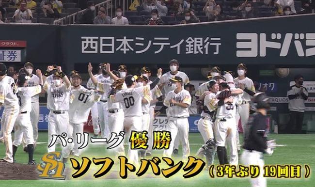 【速報】ソフトバンク、3年ぶり19回目のリーグ優勝! クローザー森が39球www