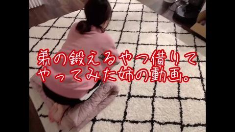 田中れいな(30)「弟の鍛えるやつ借りてやってみた姉の動画」