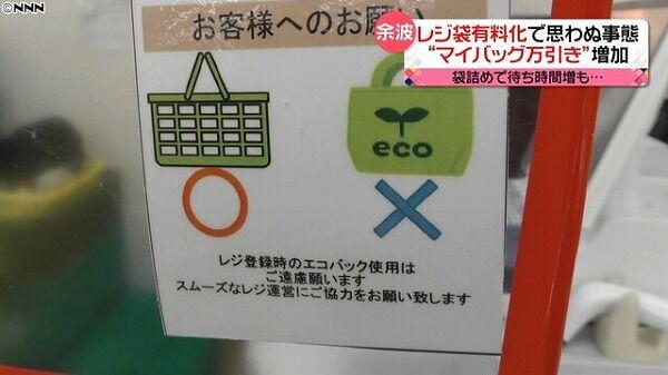 【悲報】小泉進次郎「レジ袋有料化します」→ポリ袋売り上げ3倍&万引き増加&レジ待ち時間増加