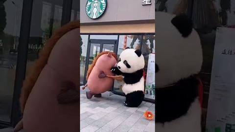 【動画】スタバ前で着ぐるみスタッフがガチ喧嘩wwwIwwwIww