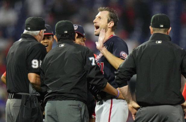 【MLB】シャーザー「すべて脱ぐ」粘着物質チェックに憤慨 相手監督が要求