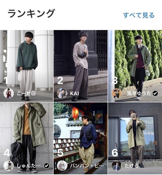 【画像】秋のメンズファッションランキング、もうめちゃくちゃw